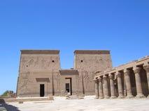egyptiskt philaetempel fotografering för bildbyråer