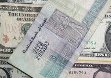 Egyptiskt pund för US dollar kontra Royaltyfria Foton