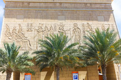 egyptiskt tempel royaltyfria bilder