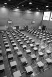 Egzaminów sporty Hall w Czarnym & Białym Fotografia Stock