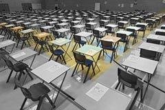 Egzaminów stoły Zdjęcia Stock