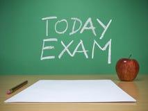 egzamin dzisiaj fotografia stock