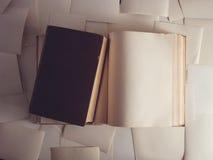 Egzamin próbny up pisze list Książki rocznik Obraz Stock