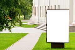 Egzamin próbny Up Pusty billboard outdoors, plenerowa reklama, informaci publicznej deska w mieście obraz stock