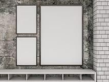 Egzamin próbny w górę plakata we wnętrzu żywego pokoju 3d Zdjęcia Royalty Free