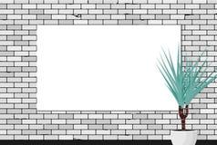 Egzamin próbny z w górę Starego ściany z cegieł tła ilustracji