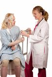 egzaminacyjny pacjent obraz royalty free