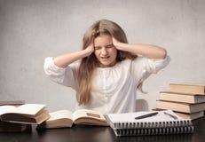 egzaminu stres Obrazy Stock
