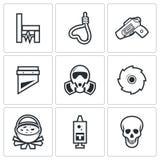 Egzekucyjne ikony również zwrócić corel ilustracji wektora Zdjęcie Stock
