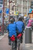 Egzekwowanie Prawa kolarstwo Przy Amsterdam wschodem holandie obraz royalty free