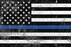 Egzekwowanie Prawa policja Wspiera flaga obraz royalty free