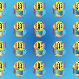 Egzot Łowi Bezszwowego wzór Obraz Royalty Free