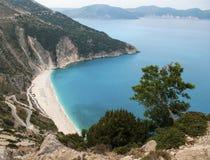 Egzot plażowy Myrtos Kefalonia Fotografia Stock