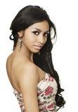 Egzotyczna piękna młoda kobieta Fotografia Stock