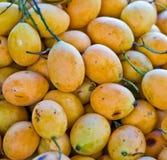 Egzotyczna Tajlandzka owoc. Maprang, Mariańska śliwka, Gandaria, Mariański mango, Zdjęcie Royalty Free