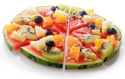 Egzotyczna tropikalnej owoc arbuza pizza obrazy royalty free