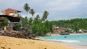 egzotyczna unawatuna plaża, sri lanka zdjęcie wideo