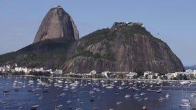 Egzotyczne g?ry s?awne g?ry G?ra Cukrowy bochenek w Rio De Janeiro, Brazylia Ameryka Po?udniowa zbiory wideo