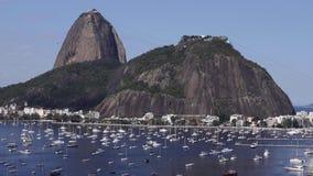 Egzotyczne g?ry s?awne g?ry G?ra Cukrowy bochenek w Rio De Janeiro, Brazylia Ameryka Po?udniowa zdjęcie wideo