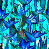 Egzotycznego d?ungli powt?rki cienia druku krawata tropikalnego bezszwowego deseniowego nieko?cz?cy si? barwid?a tekstylna tkanin royalty ilustracja
