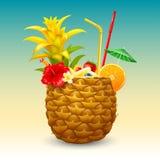 Egzotyczny ananasowy koktajl Zdjęcie Royalty Free