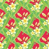 Egzotyczny Bezszwowy wzór z kwiatami Fotografia Stock