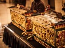 Egzotyczny gamelan muzyczny tradycyjny od jogja Indonesia Obraz Royalty Free