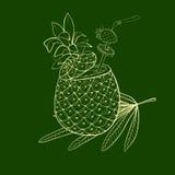 Egzotyczny koktajl w ananasie Obrazy Stock