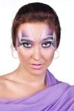 egzotyczny makeup Zdjęcia Royalty Free