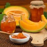 Egzotyczny Melonowy kompot lub dżem obrazy royalty free