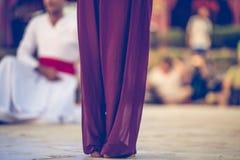 Egzotyczny orientalny taniec miękkiej części ruch fotografia stock