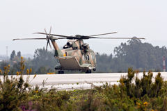 EH-101 Merlin Portuguese preparing for take off. Royalty Free Stock Photo