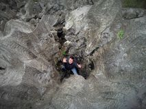 Ehab Rehan en el agujero Foto de archivo libre de regalías