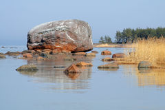 Ehalkivi - the erratic boulder Stock Images