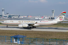 A6-EHC Etihad Airways,Airbus A340-541 Stock Photography