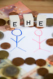 Ehe - the german word for marriage Royalty Free Stock Photos