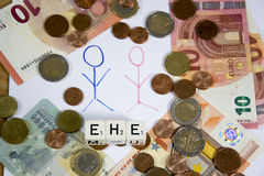 Ehe - the german word for marriage Stock Image