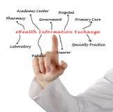 EHealth Information Exchange. Presenting diagram of eHealth Information Exchange Stock Photography