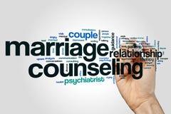 Eheberatungswortwolke Lizenzfreie Stockfotos
