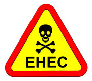 EHEC - warning sign. Royalty Free Stock Image