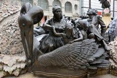 Ehekarussell婚姻转盘Brunnen喷泉的元素在纽伦堡 免版税库存图片