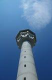 Ehemalige DDR-Wachturm als Denkmal Stockbild