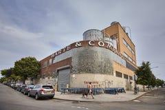 Ehemalige Fabrik Harte & Company, eins der ikonenhaften Gebäude Greenpoint lizenzfreie stockbilder