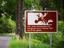 Ehemalige Grenze zwischen East and West-germany stockbilder