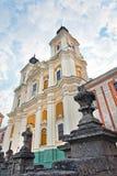 Ehemalige Jesuit-Hochschule in der Kremenets Stadt (Ukraine). Stockfotos