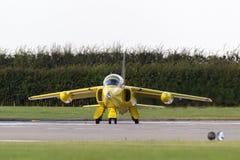 Ehemalige Royal Air Force-R.A.F. ` s Ära Folland-Mücke 1950 T M 1 Jet-Trainerflugzeug G-MOUR Lizenzfreie Stockfotografie