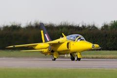 Ehemalige Royal Air Force-R.A.F. ` s Ära Folland-Mücke 1950 T M 1 Jet-Trainerflugzeug G-MOUR Stockfoto