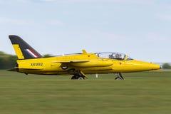Ehemalige Royal Air Force-R.A.F. ` s Ära Folland-Mücke 1950 T M 1 Jet-Trainerflugzeug G-MOUR Stockbild