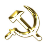 Ehemalige UDSSR-Kommunismussymbol Stockfotos
