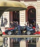 Ehemaliger deutscher Präsident christliches wulff verlässt die Feier O Lizenzfreies Stockfoto